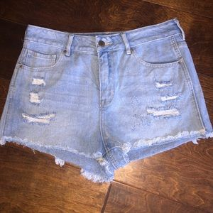 Bullhead high rise denim shorts